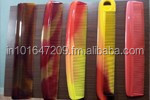 colorful plastic wide tooth comb, big comb, hair straightening comb made in india