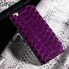 shenzhen mobile phone accessories Python Snake Skin Leather Case Protective Back Hard Cover For iPhone 6 Plus