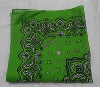 New Design 100%Cotton Bandana Fashion Printed Handkerchief Custom Bandana 53*53CM