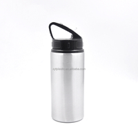 straw metal water bottle good price aluminum metal bottle
