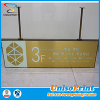 Shopping mall floor guide glow in dark lightweight engraving hanging sign board