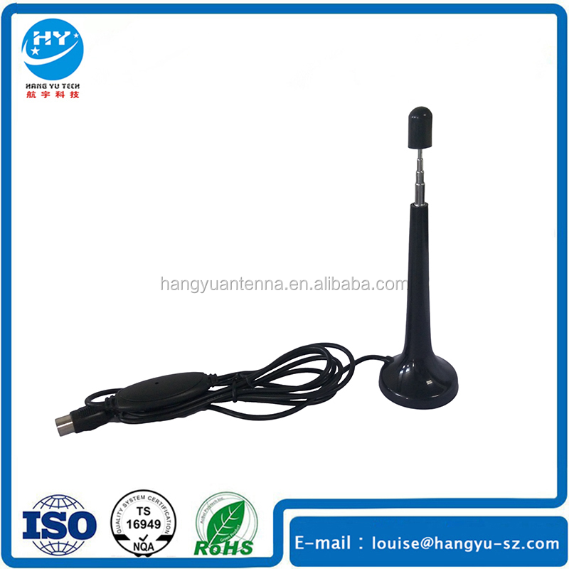 Telescopic Mast Digital Amplified Indoor DVB T TV Antenna