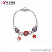 Xuping Fashion Wholesale Price Women Bead Safety Chain Bracelet with Rhodium Color