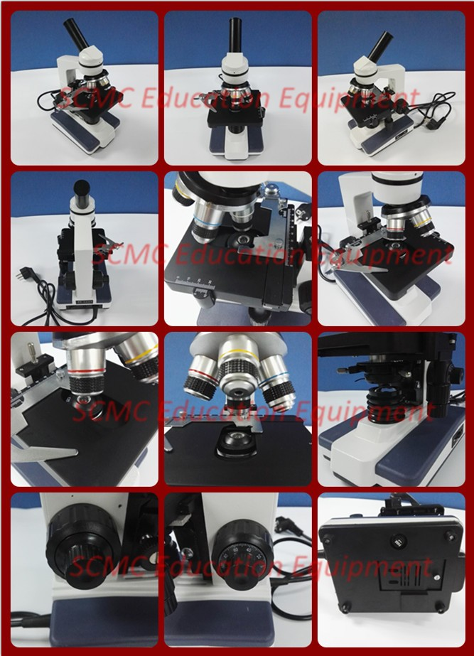 SE21914 Biological Microscope for students, 40X~1600X, multi-use, Monocular, with LED light adjustable.