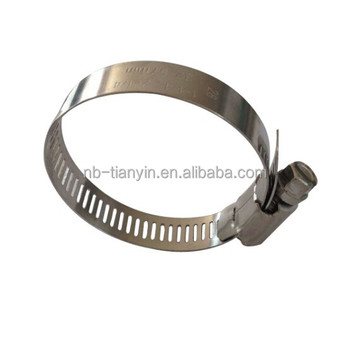 Ningbo AISI 304 perforated band American hose clamp maker