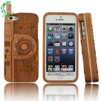 camera laser wood pattern for iphone 5 solar case