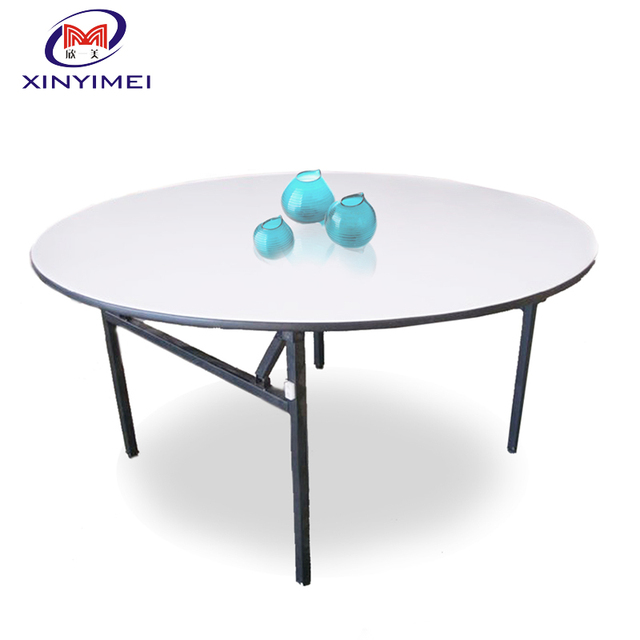 Cheap Wholesale 6ft Folding Round Plywood Banquet Table