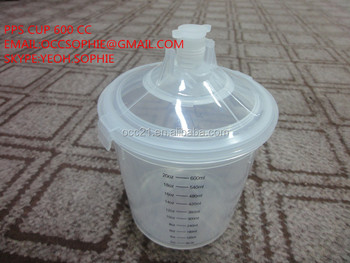 Paint mixing cup for spray gun