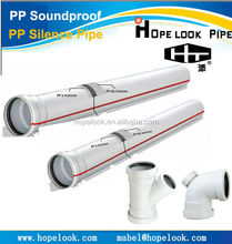 Hot Sell water silent pipe fitting <strong>PP</strong> or PVC pipes with rubber rings