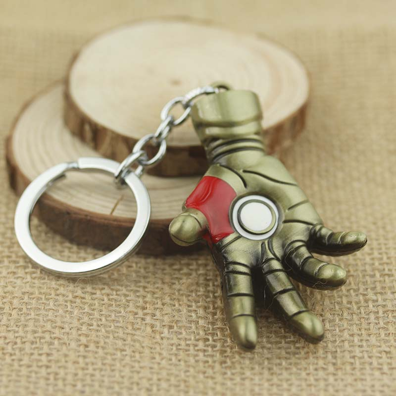 Super Hero The Avengers Iron Man Hand Jewelry Metal Key Ring Movie Jewelry Keychain <strong>K</strong>-<strong>131</strong>