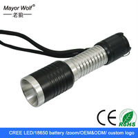 Aluminum 18650 lithum battery mini promotion cree t6 led flashlight