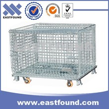 Pigeon Warehouse Rolling Storage Iron Wire Cage With Wheels