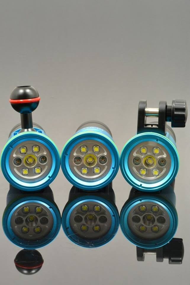 IP68 Professional Underwater Scuba Photography / Video Camera Light