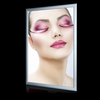 Indoor aluminium snap frame led light box for advertising