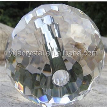 2016 Factory directly sale 60mm size with 1cm hole Crystal facted ball for decoration