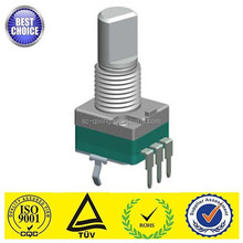 Sichuan manufacture 0.05W 9mm single gang carbon rotary potentiometer