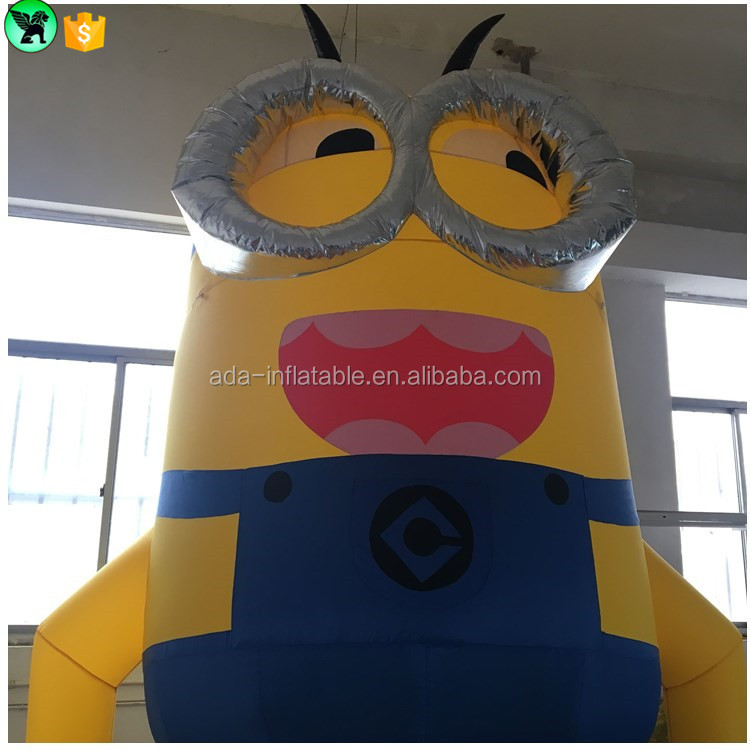 Custom 4m giant inflatable minion cartoon character for promotion decoration ST439