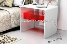 crystal perspex LED cube table,Lucite side tables