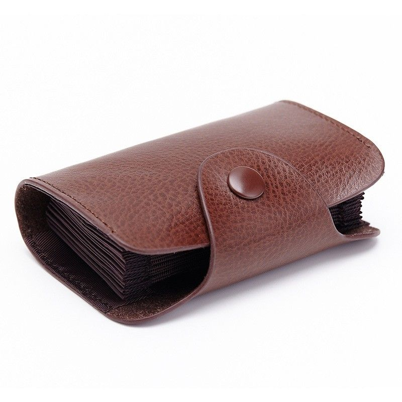 Genuine Leather Unisex Card Holder Wallets High Quality Female Credit Card Holders Women Pillow Organizer Purse