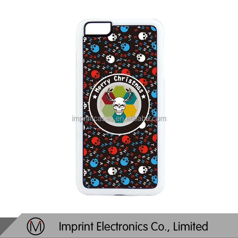 White Rubber Phone cases for iPhone 6 plus sublimation printing cover Dropshiping
