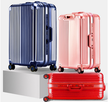 Hot Sale PC Stripe Custom Trolley Luggage Travel Luggage Sets