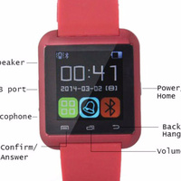 New arrival Bluetooth Android wrist smart watch U8 smartwatch mobile phone support multilanguages u8 smartwatch 2015