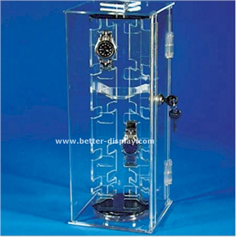 custom clear plexiglass acrylic watch storage trays