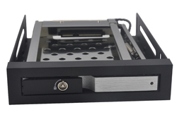 "unestech 2.5"" hdd enclosure custom aluminum hdd mobile rack hot-swap drive bay floppy drive"