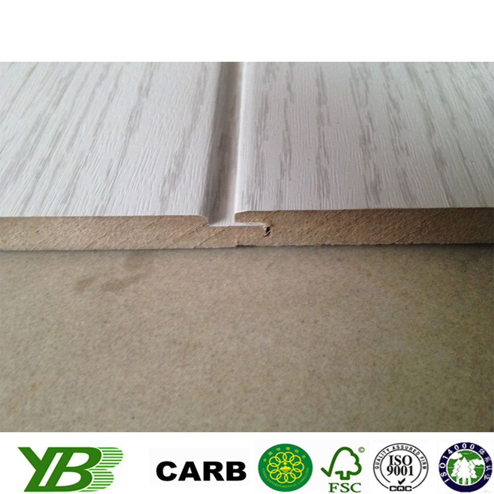 White primer or finish bathroom decorative mdf wall panels