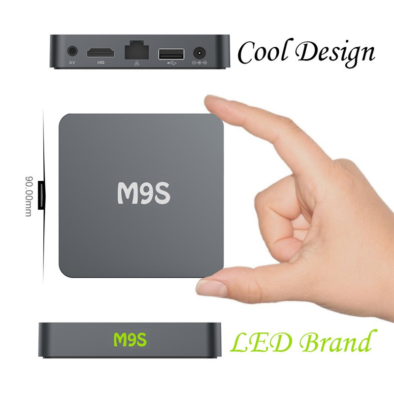 1G Android TV Smart Set Top Box Built-in WiFi M9S TV Box with 4 High speed USB 2.0