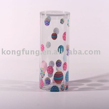 banded edge transparent clear plastic storage acetate gift pet packaging round tube shape box