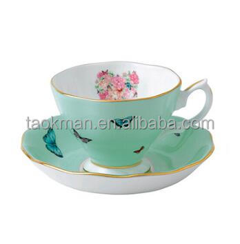 200ML fine bone china ceramic coffee tea cup sets with saucer