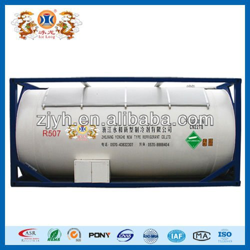 Mixed refrigerant gas R507 in ISO TANK