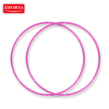 zhorya wholesale cheap children fitness plastic pink detachable hula hoop