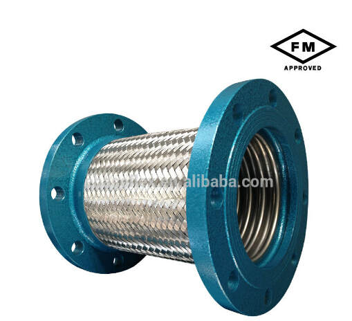 Corrugated bellows stainless steel flanged flex pipe