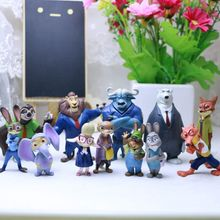 (2017 Promotion) 12PCS in One Set Judy Zootopia Figure Nick Wilde Toy OEM Zootopia Sloth Catoon Figure