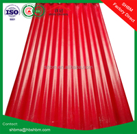 Red corrugated roofing sheet coated with Pet film Mgo roofing tiles