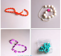 Fashion Eco-friendly Beads Chew Jewels Chewable Bib Necklace