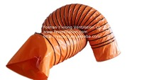 flex spriral duct,flex duct,exhaust air duct flexible duct PVC ventilating duct