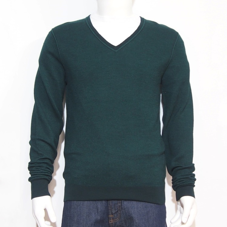 Long Sleeves V-neck 100% Wool knitted Honey Comb sweater