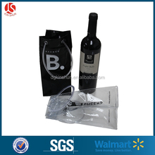 Custom clear pvc ice wine bottle bag with customer logo printing