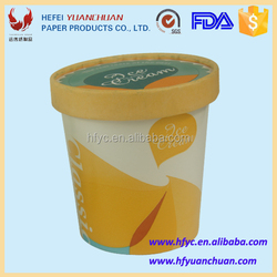Disposable ice cream paper bucket with custom printing