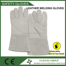 Long factory sell CE EN388 leather winter hunting shooting gloves
