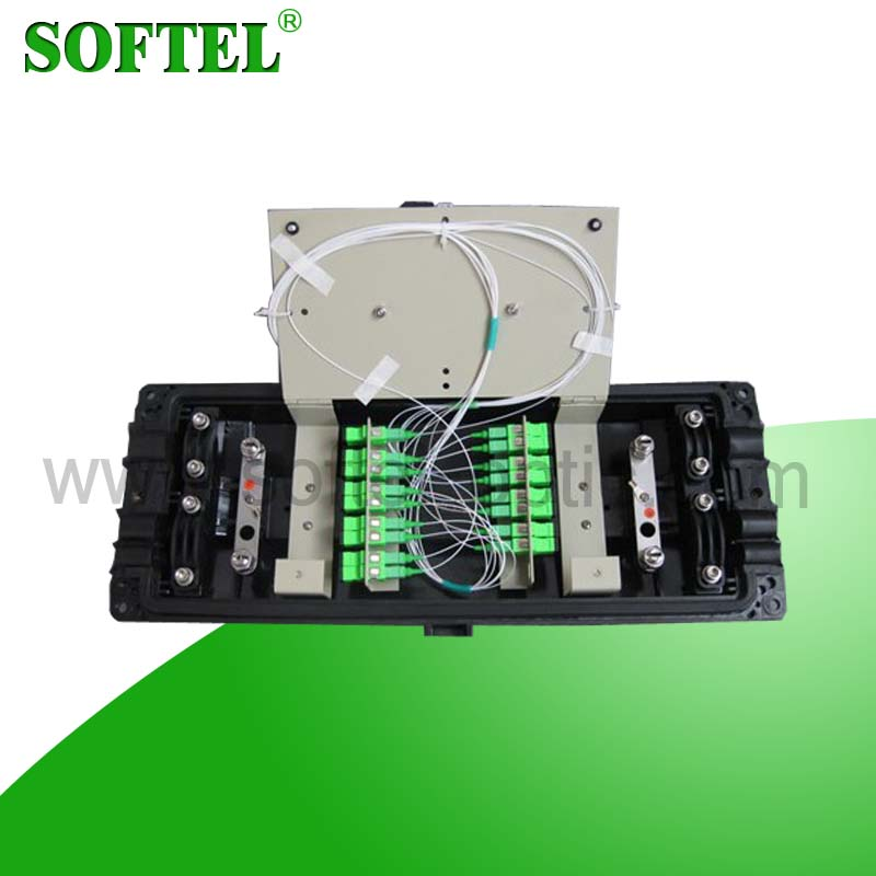<Softel>FTTx Fiber Optic Enclosures with Adapter and PLC Splitter