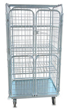 golden colour roll cage laundry rolling containers