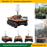 XBH 8x8-2(C) Emergency Lighting Vehicle atv 800cc 8 wheels amphibious vehicles all terrains anfibio car