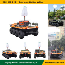 XBH 8x8-2(C) Emergency Lighting Vehicle atv 800cc 8 wheels amphibious vehicles all terrains anfibio car