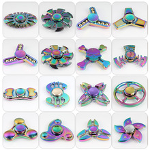 Style rich hand spinner rainbow fidget spinner gyro toys edc spinner large inventory