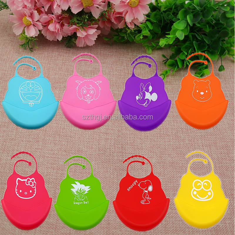 High quality factory wholesale FDA food grade silicone baby bib for kids