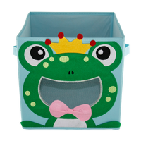 Home polyester Foldable container , cute Clothes Storage Box foldable
